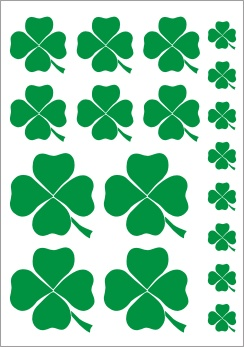 Four Leaf Clover Vinyl Stickers