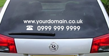 Web Domain Name and Telephone Number Vinyl Sticker